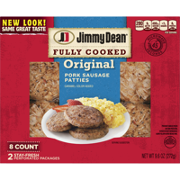 Jimmy Dean Original Fully Cooked Pork Sausage Patties, 9.6 Oz., 8 Count