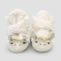 Baby Constructed Llama Bootie Slippers - Cloud Island™