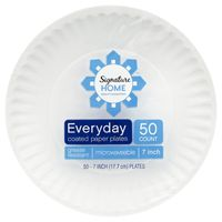 """Signature Home Everyday 7"""" Coated Paper Plates"""