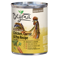 Purina Beyond Grain Free, Natural Pate Wet Dog Food, Grain Free Chicken, Carrot & Pea Recipe, 13 oz. Can