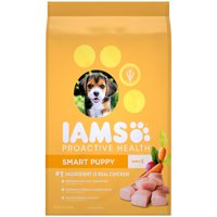 IAMS PROACTIVE HEALTH Smart Puppy Dry Dog Food Chicken, 15 lb. Bag