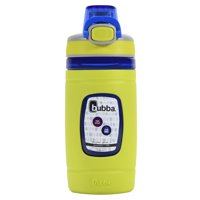 bubba Kids Water Bottle with Silicone Sleeve | Flo BPA-Free Water Bottle with Wide Mouth, 16 oz, Neon Pear