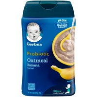 Gerber Probiotic Oatmeal & Banana Baby Cereal, 8 oz.