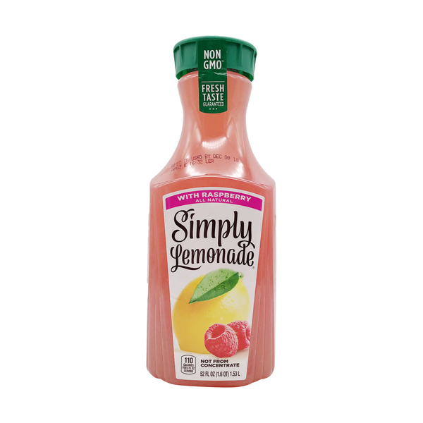 Simply Lemonade with Raspberry, 52 fl oz