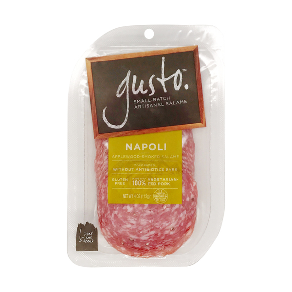 Gusto™ Napoli Applewood-smoked Sliced Salame, 4 oz