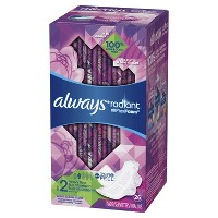 Always Radiant Heavy Flow Avec Flex Foam Pads - Size 2 - 26ct