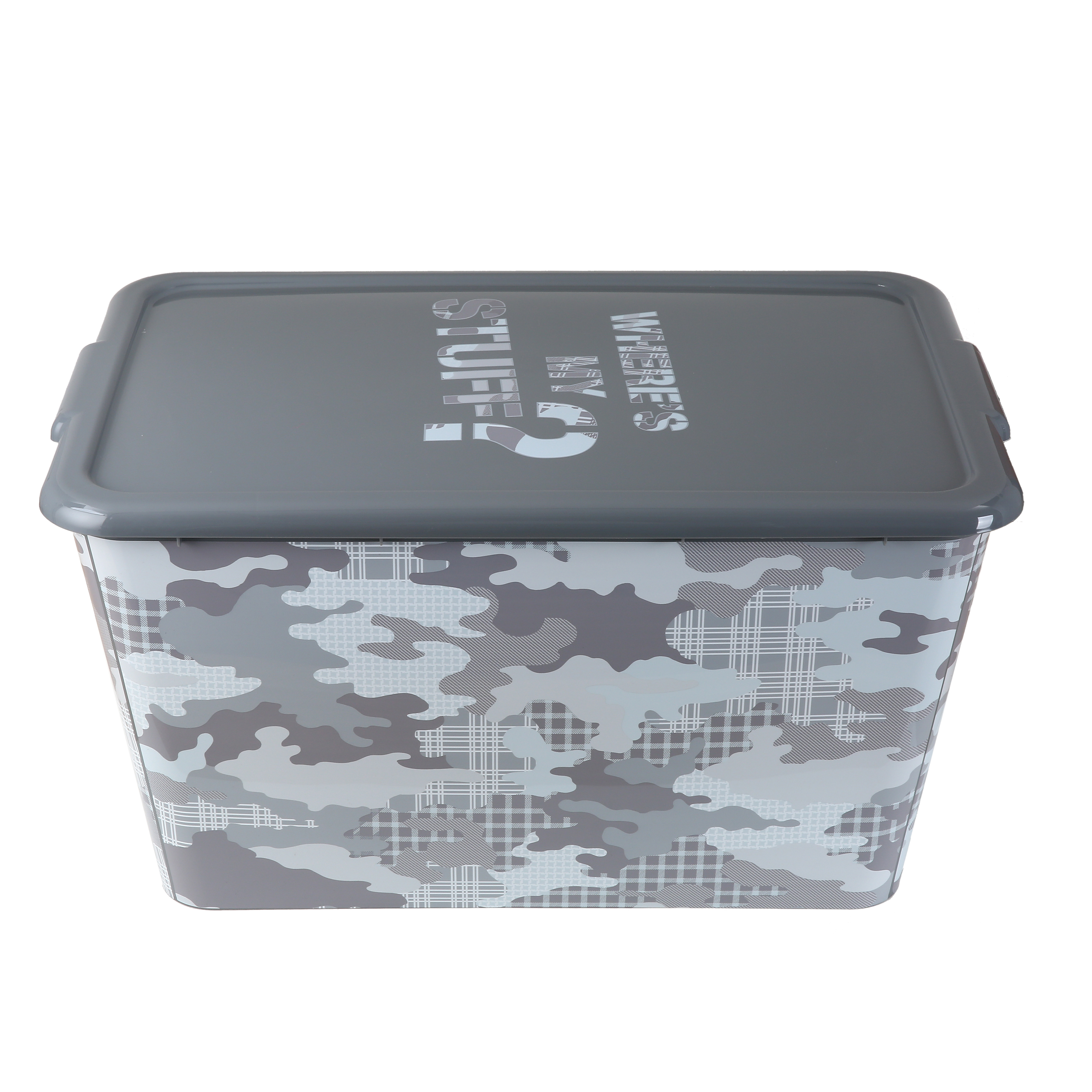 Your Zone 14.5 Gal / 53L Camo Storage Tote Box, Plastic with Lid