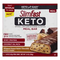SlimFast Keto Whipped Peanut Butter Chocolate Meal Bars