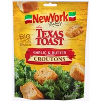New York Bakery Texas Toast Garlic and Butter Flavored Croutons - 5oz