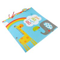 Baby Rainbow, Large Sized, Baby Gift Bag with Red Rope Handles
