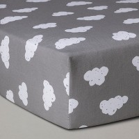 Crib Fitted Sheet Clouds - Cloud Island™ Gray