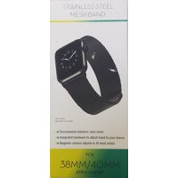 Apple Watch Mesh Replacement Band 38 to 40mm, Black