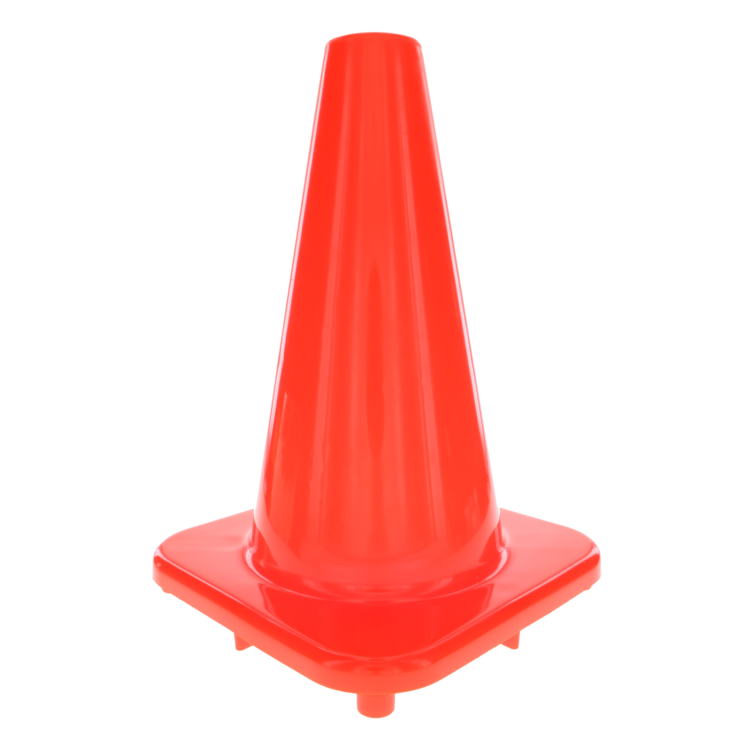 Hyper Tough Orange Synthetic Rubber Safety Cone - 12 inches, 1 Cone
