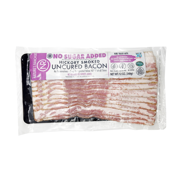 Hickory Smoked Uncured Bacon, 12 oz