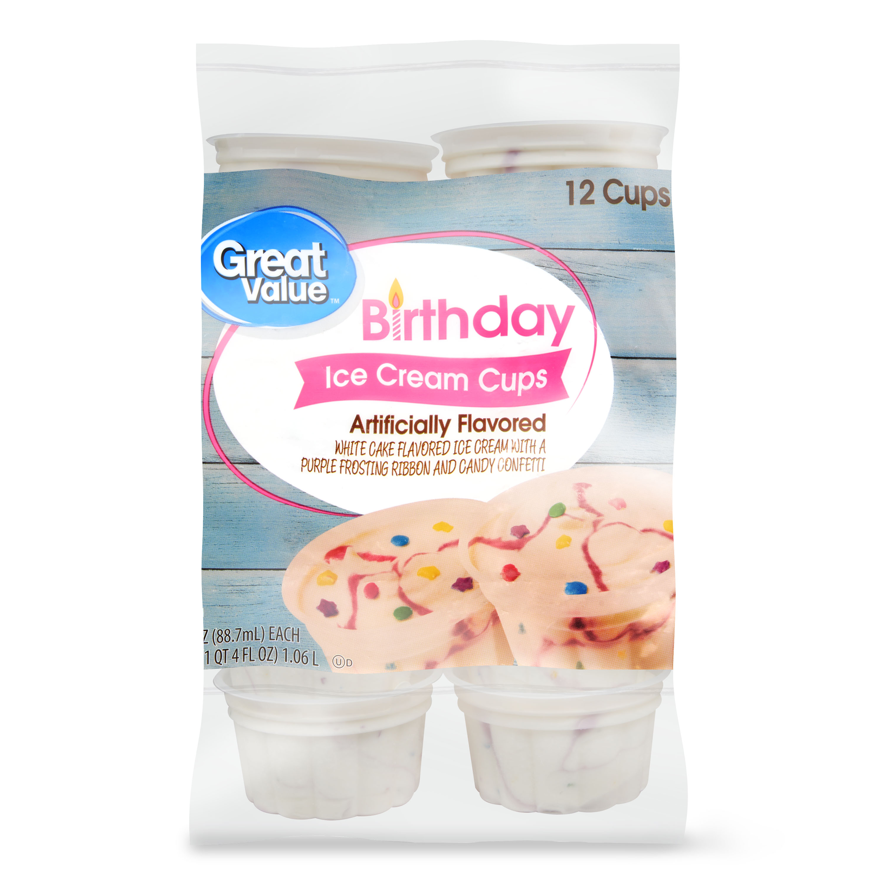 Miraculous Great Value Birthday Bash Ice Cream Cups 3 Fl Oz 12 Ct From Personalised Birthday Cards Epsylily Jamesorg