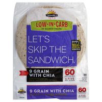 Tumaro's 9 Grains and Seeds Carb Wise Wraps