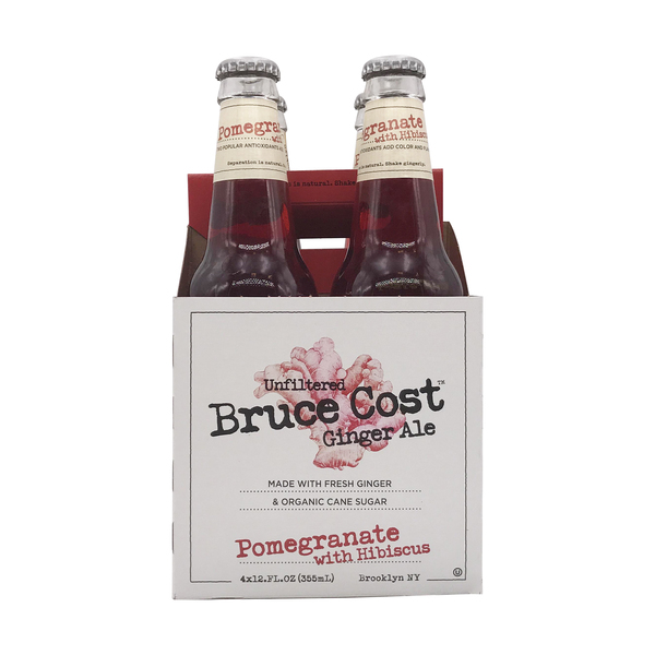 Bruce cost Pomegranate Hibiscus Ginger Ale 4 Pack