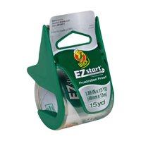 Duck EZ Start Packing Tape, 1.88 in. x 15 yd., Clear, 1-Count