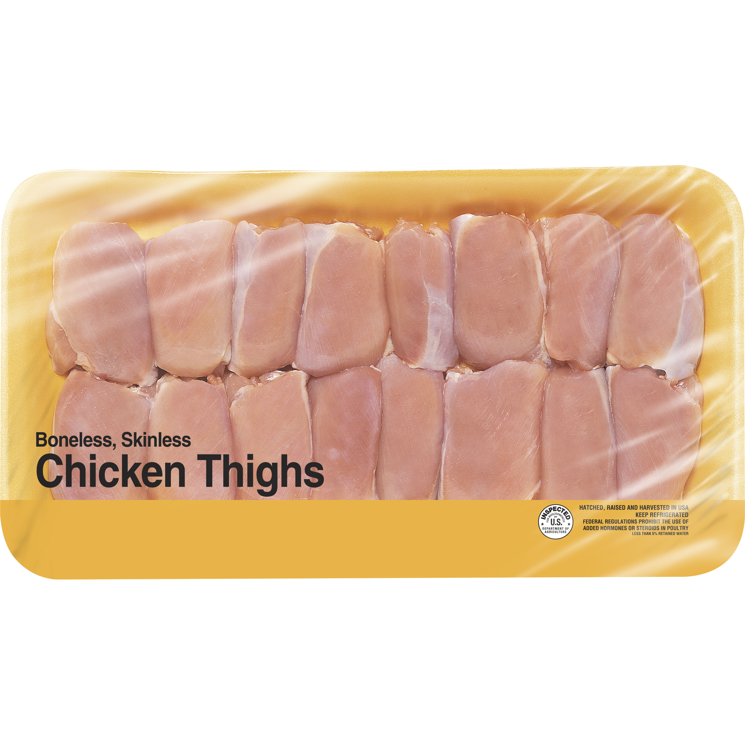 Freshness Guaranteed Boneless Skinless Chicken Thighs Family Pack, 4.7 - 5.6 lb