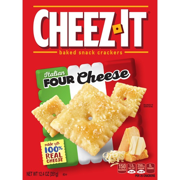 Cheez-It Italian Four Cheese Baked Snack Crackers 12.4oz