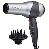 Revlon Perfect Heat Ceramic Turbo Hair Dryer, Gray with Diffuser