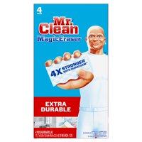 Mr. Clean Magic Eraser Extra Durable, Cleaning Pads with Durafoam, 4 count