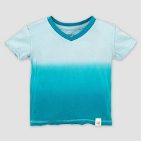 Burt's Bees Baby® Baby Boys' Organic Cotton Dip Dye T-Shirt Island Breeze - Green