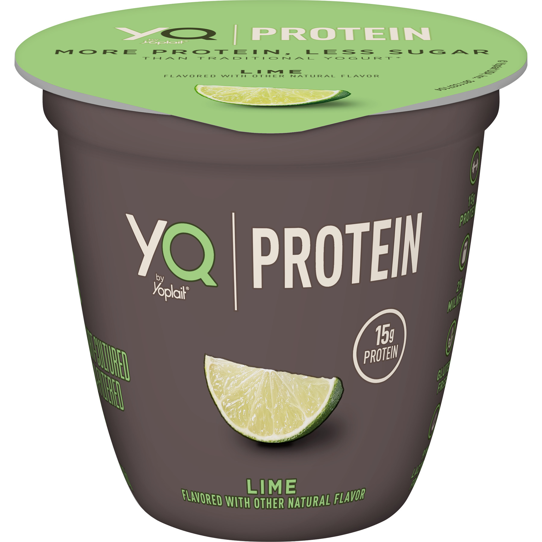 YQ by Yoplait Lime Single Serve Yogurt Made with Cultured Ultra-Filtered Milk, 5.3 oz Cup, 5.3 OZ