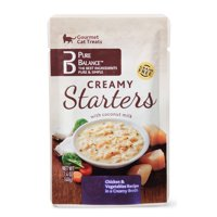 Pure Balance Gourmet Cat Treats Starters, Creamy Starters with Coconut Milk, Chicken & Vegetable Recipe, 1.4 oz
