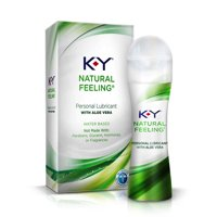 K-Y Natural Feeling Personal Lubricant Gel With Aloe Vera, Water Based & Free From Harmful Chemicals 1.69 oz