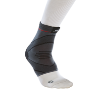 McDavid Ankle Compression Knit Sleeve w/ Gel Butresses, Small/Medium