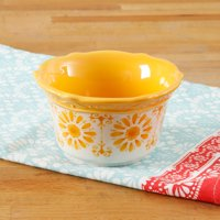 "The Pioneer Woman 4"" Gold Floral Burst Ramekin"