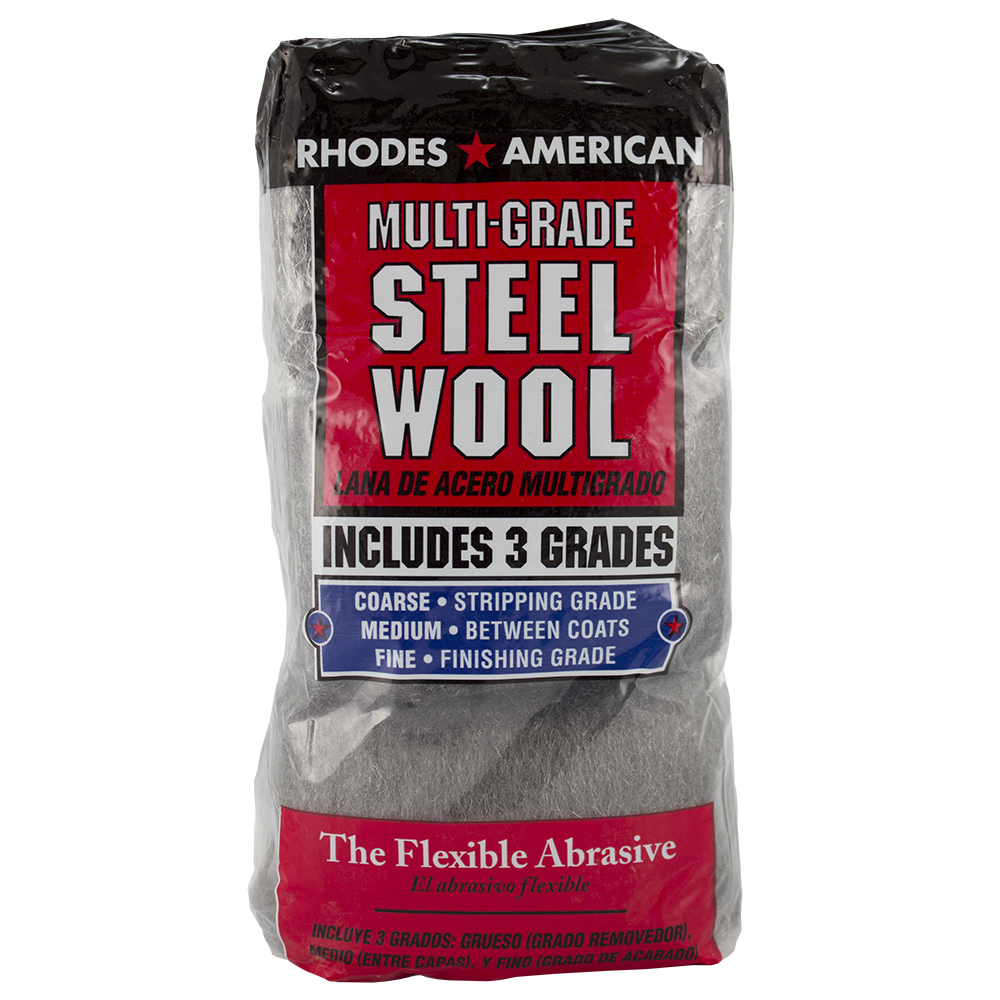 Rhodes American Multi-Grade Steel Wool Assorted, 12 Pads