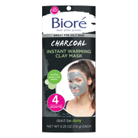 Biore Charcoal Instant Warming Clay Mask (4 Count)