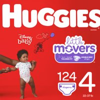HUGGIES Little Movers Diapers, Size 4, 124 Count