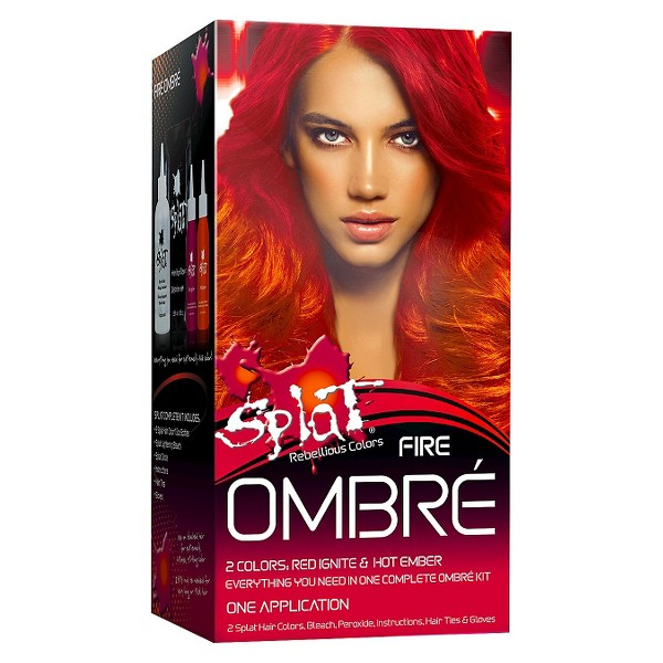 Splat Ombre Fire Hair Bleach and Color kit - 5.2oz