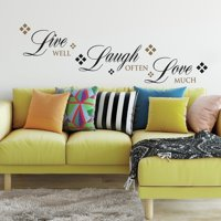 RoomMates Live Love Laugh Peel and Stick Wall Decals