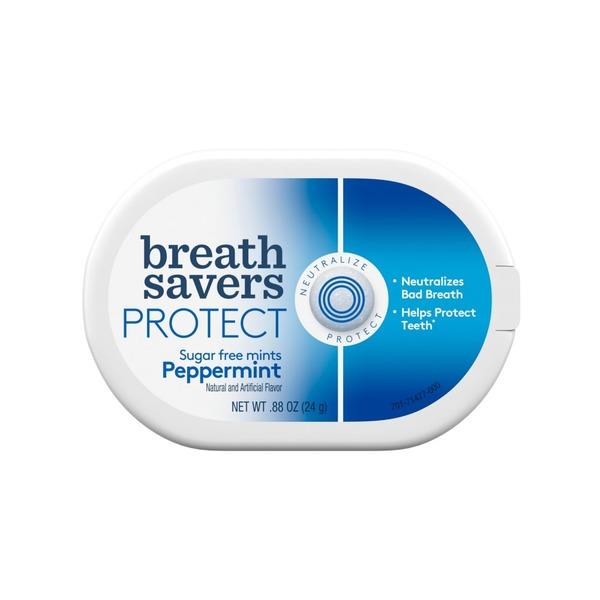 Breath Savers Protect Sugar Free Mints Peppermint