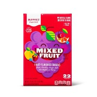 Mixed Fruit Flavored Fruit Snacks - 22ct - Market Pantry™