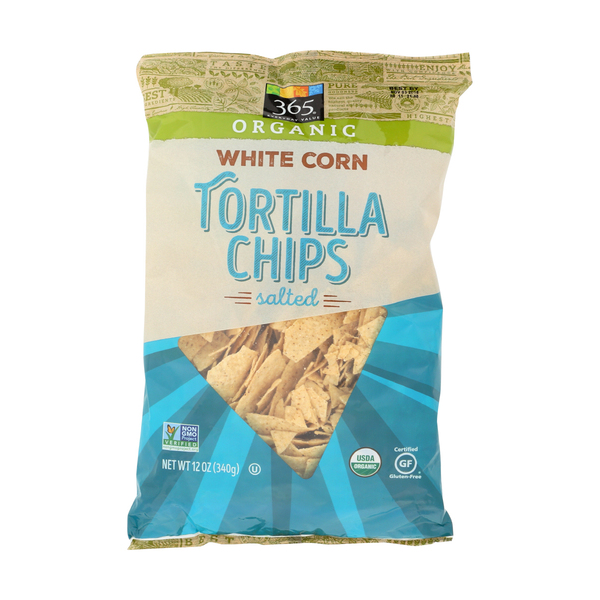 365 everyday value® Organic Salted White Corn Tortilla Chips, 12 oz