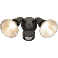 Brink's 180-Degree Motion Activated Security Light, Black Finish