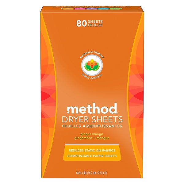 Method Ginger Mango Dryer Sheets - 80 ct