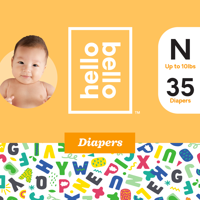 Hello Bello Diapers Jumbo Pack - Alphabet Soup - Size N (35ct)