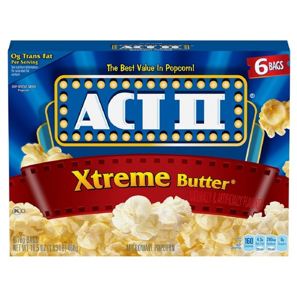Act II Extreme Butter Microwave Popcorn - 16.5oz