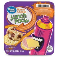 Great Value Uncured Ham & American Cheese Crackers Lunch Pack, 2.99 Oz.