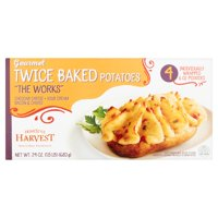 HomeStyle Harvest The Works Twice Baked Potato, 4 individually wrapped 6 oz potatoes