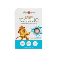 The Ginger People Ginger Rescue, Strong, Chewing Ginger Tablets