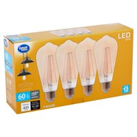 Great Value Led 4 Watts St19 Amber Light Bulbs, 4 Count