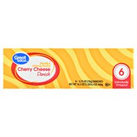 Great Value Cherry Cheese Danish, 2.75 oz, 6 count