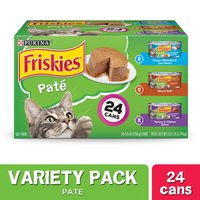 Purina Friskies Pate Wet Cat Food Variety Pack, Ocean Whitefish, Grilled & Turkey